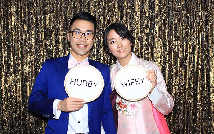 Husband & Wife Wedding Photo Booth sample