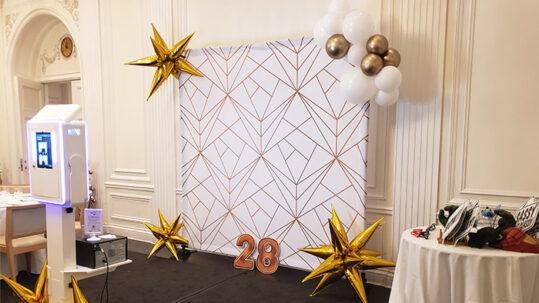 Birthday photo booth set-up
