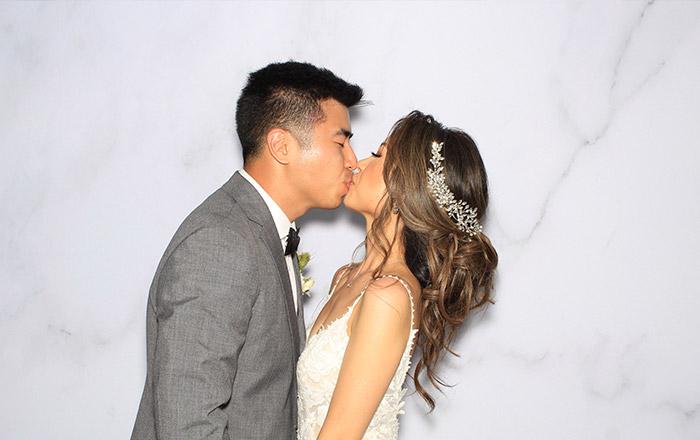 Husband & Wife Kissing Wedding Photo Booth sample