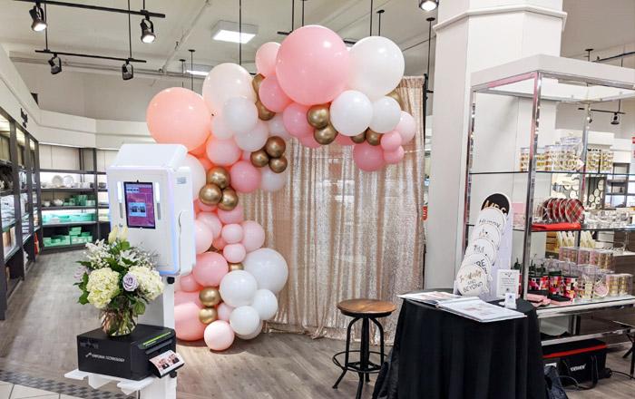 Balloon backdrop of wedding show
