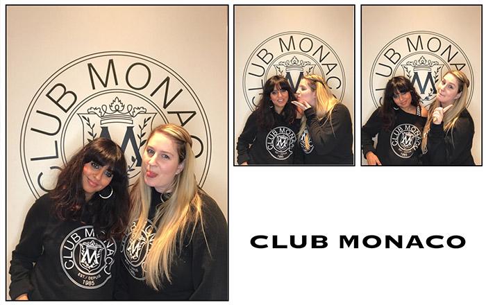 Club Monaco selfie booth sample