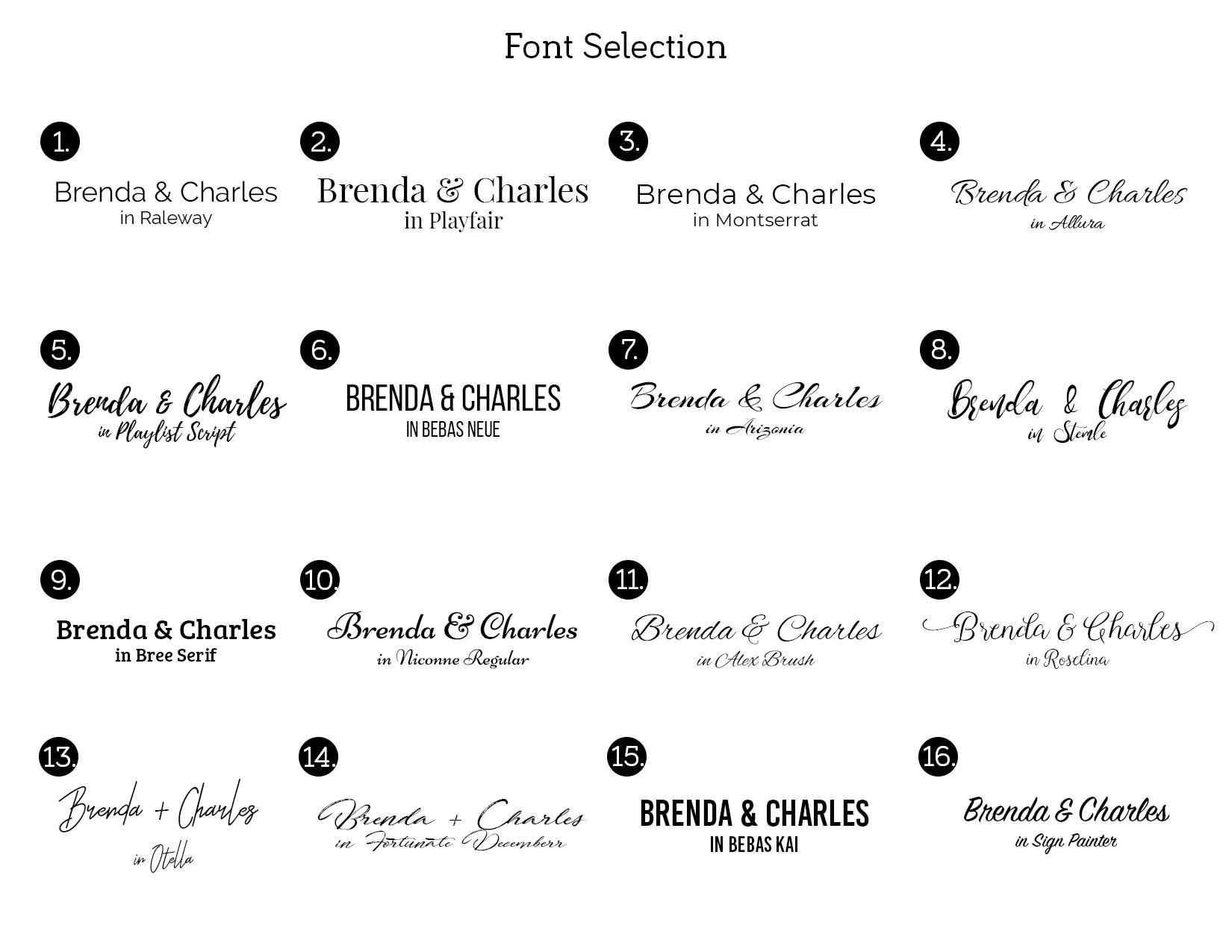 Font Catalogue
