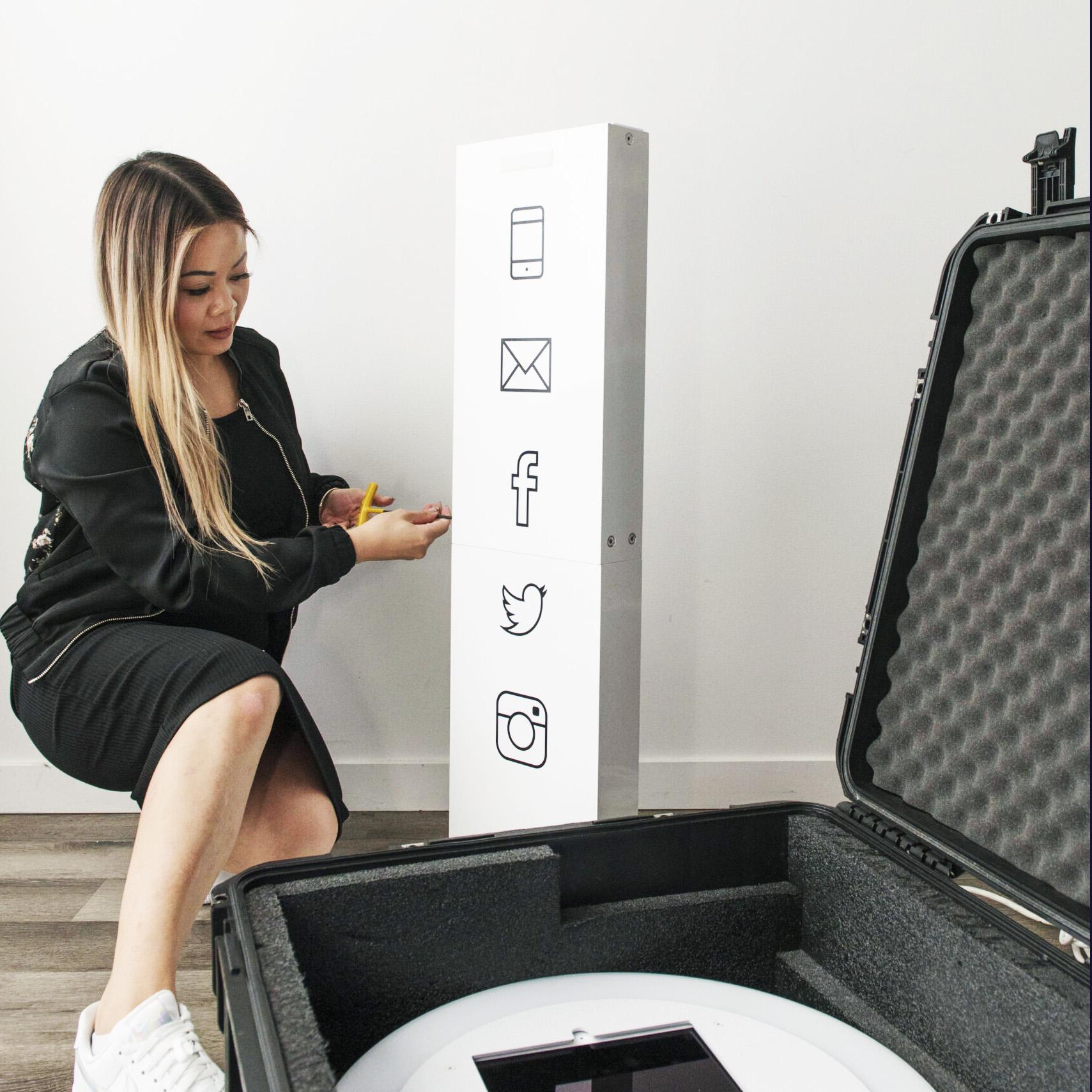 Digital Selfie Booth Easy set-up for MicroWeddings