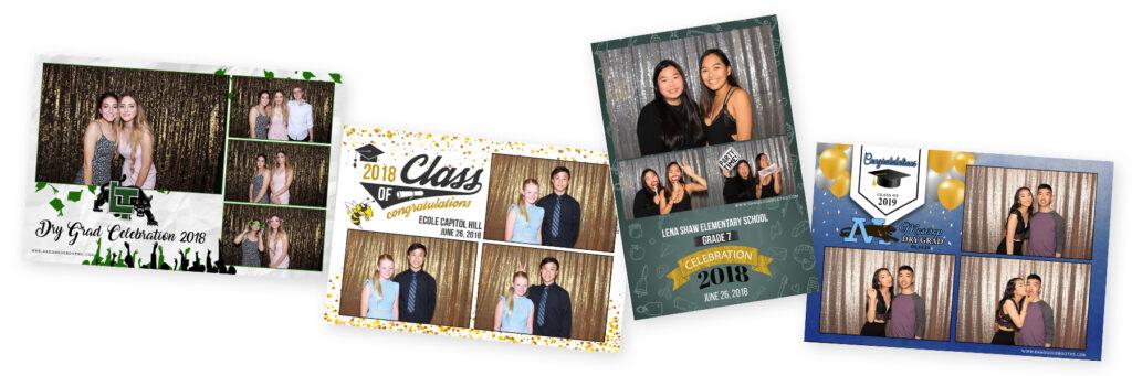 photo booth graduation dang good booths vancouver elementary high school university grad