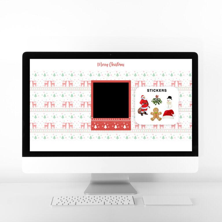 Christmas Virtual Booth Desktop