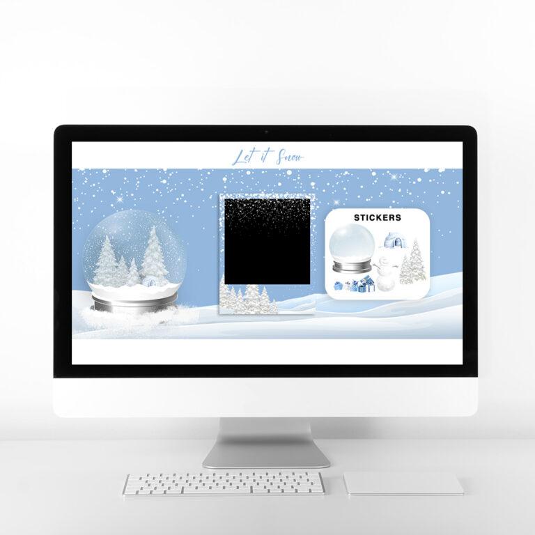 Let It Snow Virtual Booth Desktop