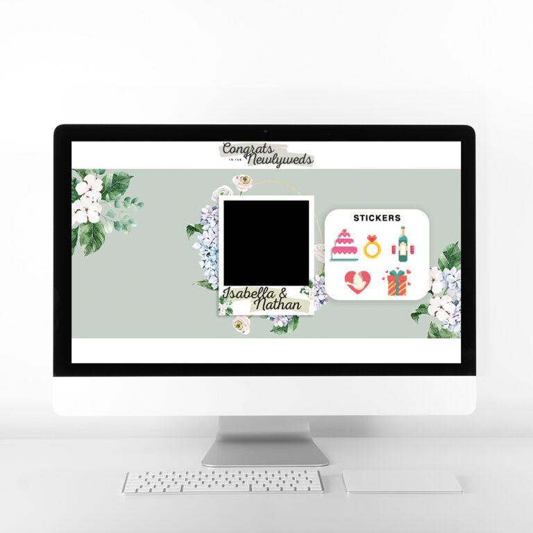 Wedding Virtual Booth Desktop